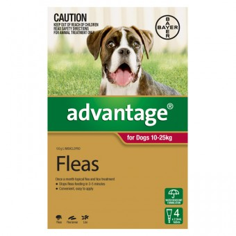 ADVANTAGE DOG LRG 10-25KG 4 PACK
